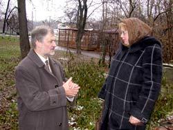 Вячеслав Игрунов и главный архитектор усадьбы